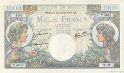 1000 Francs COMMERCE ET INDUSTRIE FRANCE  1944 F.39.11 SPL+