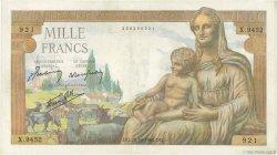 1000 Francs DÉESSE DÉMÉTER FRANCE  1943 F.40.38 TTB+