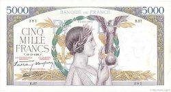 5000 Francs VICTOIRE modifié FRANCE  1938 F.45.01 SUP+