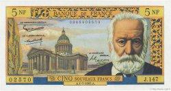 5 Nouveaux Francs VICTOR HUGO FRANCE  1965 F.56.19 NEUF