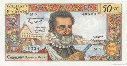 50 Nouveaux Francs HENRI IV FRANCE  1959 F.58.01 SUP+