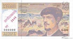 20 Francs DEBUSSY FRANCE  1993 F.66.00 pr.NEUF