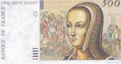 500 Francs RENAISSANCE / ANNE DE BRETAGNE FRANCE  1987 F.- NEUF