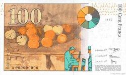 100 Francs CÉZANNE FRANCE  1997 F.74.00 pr.NEUF