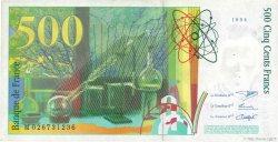 500 Francs PIERRE ET MARIE CURIE symbole en haut FRANCE  1994 F.76bis.01 TTB+