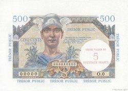 5NF sur 500 Francs TRÉSOR PUBLIC FRANCE  1960 VF.37.01 NEUF