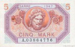 5 Mark SARRE FRANCE  1947 VF.46.01 pr.SUP
