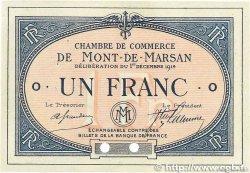 1 Franc FRANCE régionalisme et divers MONT-DE-MARSAN 1914 JP.082.06 SPL