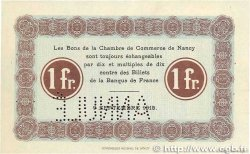 1 Franc FRANCE régionalisme et divers Nancy 1915 JP.087.04 SUP