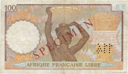 100 Francs AFRIQUE ÉQUATORIALE FRANÇAISE Brazzaville 1941 P.08s TTB