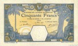 50 Francs DAKAR AFRIQUE OCCIDENTALE FRANÇAISE (1895-1958)  1929 P.09Bc TTB+