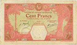 100 Francs DAKAR AFRIQUE OCCIDENTALE FRANÇAISE (1895-1958)  1926 P.11Bb TB+