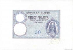 20 Francs ALGÉRIE  1912 P.078s pr.NEUF