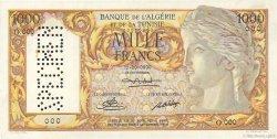 1000 Francs ALGÉRIE  1950 P.107s SUP