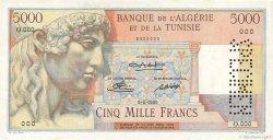 5000 Francs ALGÉRIE  1949 P.109s SPL+