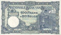 100 Francs - 20 Belgas BELGIQUE  1928 P.102 SUP+
