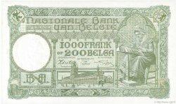 1000 Francs= 200 Belgas BELGIQUE  1942 P.110 pr.NEUF