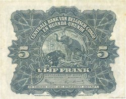 5 Francs CONGO BELGE  1952 P.21 SUP