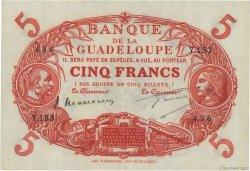 5 Francs Cabasson rouge GUADELOUPE  1943 P.07c SUP+