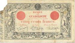 500 Francs GUADELOUPE  1923 P.10b TB