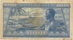 1000 Francs GUINÉE  1958 P.09 TB