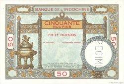 50 Roupies INDE FRANÇAISE  1936 P.007s SUP+