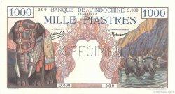 1000 Piastres FRANZÖSISCHE-INDOCHINA  1951 P.084s1 ST