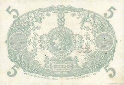 5 Francs Cabasson violet MARTINIQUE  1934 P.06 TTB+