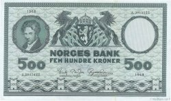 500 Kroner NORVÈGE  1968 P.34d SUP+