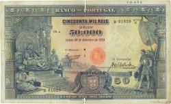 50000 Reis PORTUGAL  1910 P.110 TB