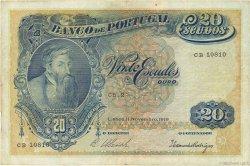 20 Escudos PORTUGAL  1919 P.118 TB+