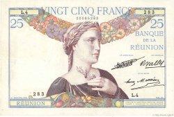 25 Francs ÎLE DE LA RÉUNION  1944 P.23 pr.SUP