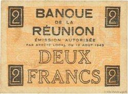 2 Francs Croix de Lorraine ÎLE DE LA RÉUNION  1943 P.35 TTB+