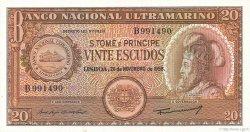 20 Escudos SAINT THOMAS et PRINCE  1958 P.36a NEUF