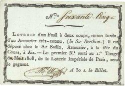 30 Sous Loterie Impériale FRANCE régionalisme et divers  1808  pr.NEUF