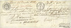540,53 Francs FRANCE régionalisme et divers NANTES 1818  TTB
