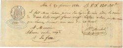 220,20 Francs FRANCE régionalisme et divers Aix 1860  TTB
