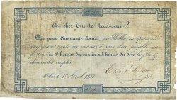 50 Francs FRANCE régionalisme et divers ORBEC 1843  TB
