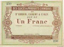 1 Franc FRANCE régionalisme et divers Saint Gobain 1870 JER.02.17a SPL