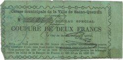 2 Francs FRANCE régionalisme et divers SAINT-QUENTIN 1870 JER.02.18c TB