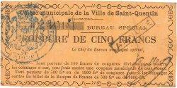 5 Francs FRANCE régionalisme et divers Saint-Quentin 1870 JER.02.18d TTB