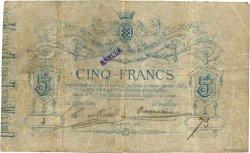 5 Francs FRANCE régionalisme et divers ANNONAY 1872 JER.07.01a TB