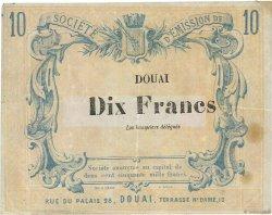 10 Francs FRANCE régionalisme et divers Douai 1870 JER.59.23c TTB
