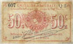 50 Centimes FRANCE régionalisme et divers ROUBAIX 1870 JER.59.55a B