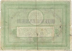 10 Francs FRANCE régionalisme et divers ARRAS 1870 JER.62.02c TB
