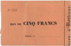 5 Francs FRANCE régionalisme et divers BÉTHUNE 1870 JER.62.04var TTB