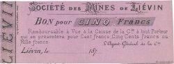 5 Francs FRANCE régionalisme et divers LIÉVIN 1870 JER.62.18b SUP
