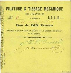 10 Francs FRANCE régionalisme et divers GRAVILLE 1871 JER.76.14c TTB+