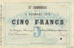 5 Francs FRANCE régionalisme et divers VILLENEUVE L