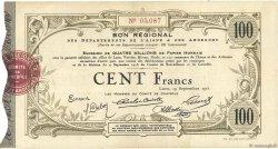 100 Francs FRANCE régionalisme et divers LAON 1915 JPNEC.02.1305 TTB+